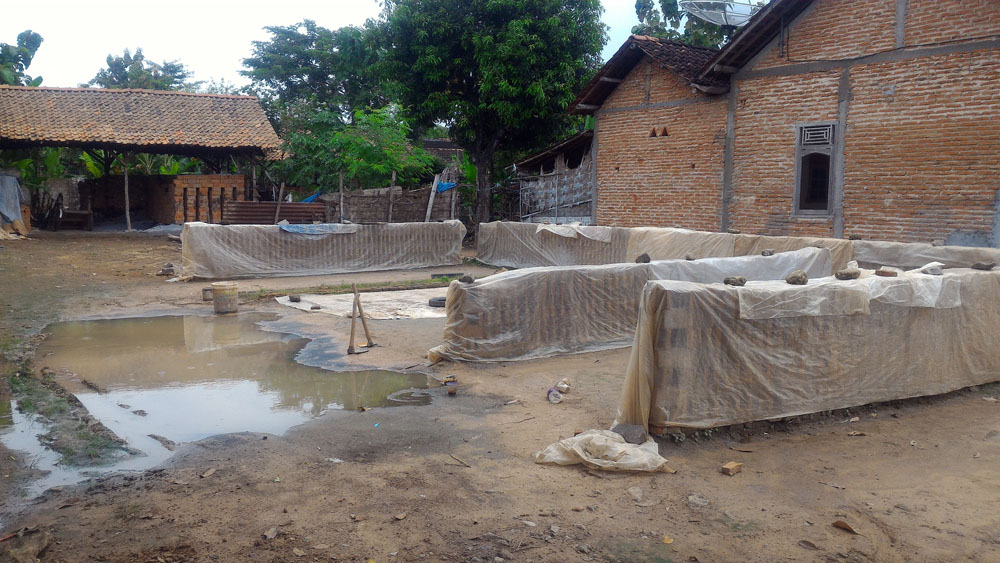 Diguyur Hujan Beberapa Hari Belakangan ini, Produsen Batu Bata Alami Penurunan Produksi