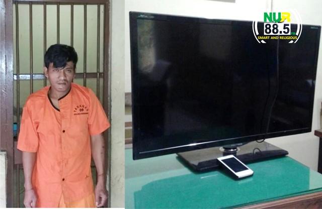Gondol TV dan HP, Goang Dibekuk Polisi