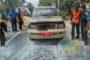 Mobil Plat Merah Terbakar di Jalan Pemuda
