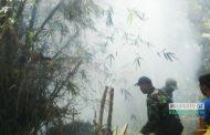Lahan Bambu di Rembang Terbakar, Nyaris Bakar Rumah Warga