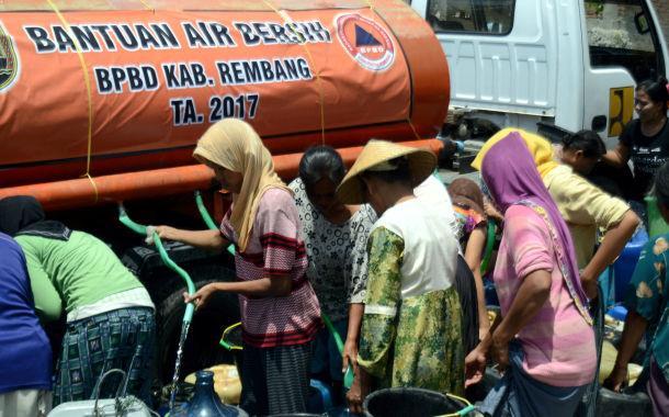 Dropping Air Bersih di Rembang Dihentikan