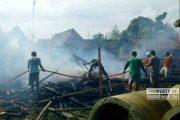 Kebakaran Akibat Bediang Sapi, Rumah di Sumber Kini Rata dengan Tanah