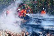 Lupa Matikan Api Tungku Usai Memasak, Rumah Seisinya di Sarang Ludes Terbakar