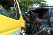 Kecelakaan Maut Truk Vs Pick Up, Satu Orang Tewas
