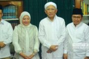 Pilgub Jateng : Ida Fauziyah Sowan Gus Mus di Rembang