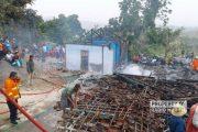 Kebakaran di Desa Dowan Gunem, 3 Rumah Ludes