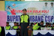 Semarakkan HUT TNI, Pemkab Rembang Gelar Turnamen Bola Voli