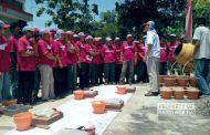 Puluhan Tukang Bangunan di Rembang Dibekali Wawasan Terampil 'Ngecor'