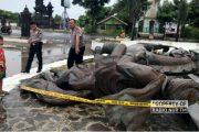 Diterpa Angin, Patung Diponegoro Berkuda Perbatasan Jateng - Jatim Roboh