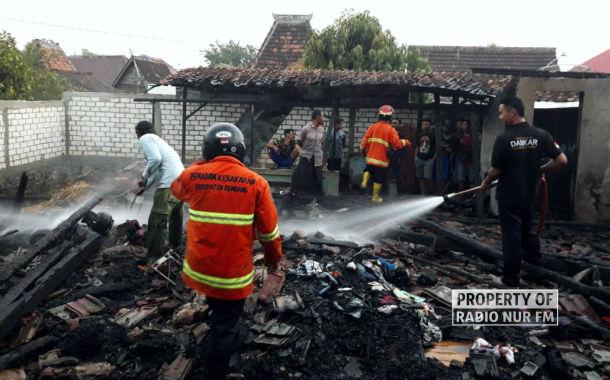 Kebakaran, Satu Rumah di Rembang Hangus Rata dengan Tanah