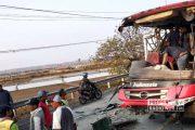 Adu Banteng Bus Indonesia Vs Truk di Jalur Pantura Rembang, 5 Orang Luka