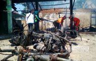 Kebakaran Dintanpan Rembang, Belasan Sepeda Motor dan Mobil Hangus Terbakar