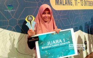 Gebyar Brawijaya Qur'ani, Siswi Rembang Sabet Juara I