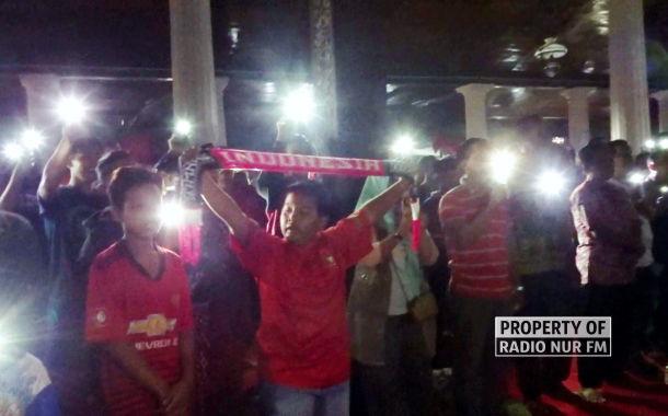 Dibalik Kekalahan Timnas, Nasionalisme Peserta Nobar di Rembang Bikin Haru
